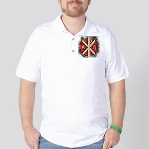 Alpha Omega Stained Glass Golf Shirt