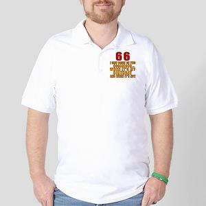 66 Birthday Designs Golf Shirt