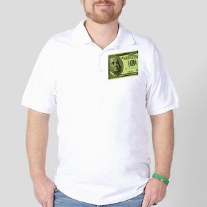 Hundred Dollar Bill Golf Shirt
