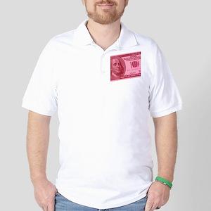Pink Hundred Dollar Bill Golf Shirt