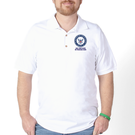 US Navy Symbol Personalized Polo Shirt