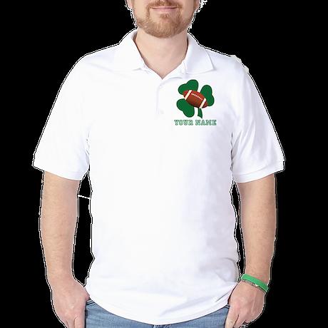 Personalized Irish Football Gift Golf Shirt