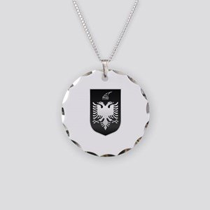 Albanian State Emblem Necklace Circle Charm