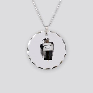 Witch Warning Necklace Circle Charm