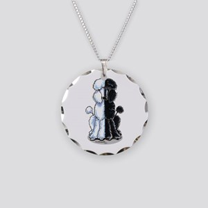Double Standard Necklace Circle Charm