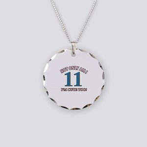 11 year old birthday designs Necklace Circle Charm