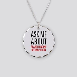 Search Engine Optimization Necklace Circle Charm