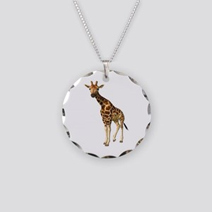 The Giraffe Necklace Circle Charm