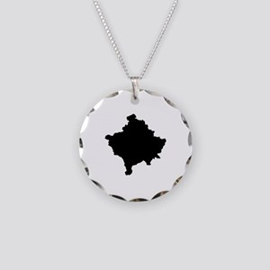 Kosovo Map Necklace Circle Charm