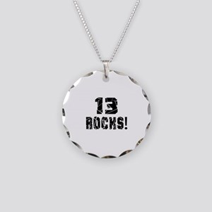 13 Rocks Birthday Designs Necklace Circle Charm