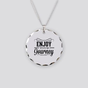 Enjoy Your Journey Necklace Circle Charm
