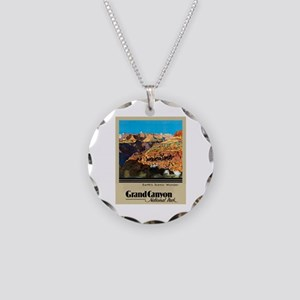Grand Canyon Travel Poster 2 Necklace Circle Charm