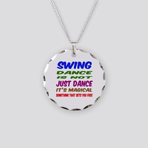 Swing dance is not just danc Necklace Circle Charm