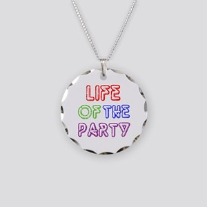 Life of the Party Necklace Circle Charm
