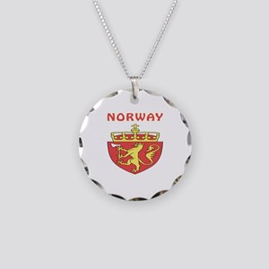 Norway Coat of arms Necklace Circle Charm