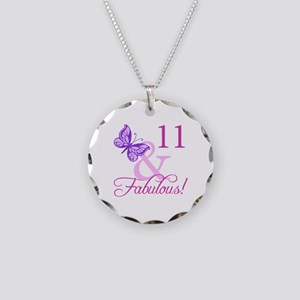 Fabulous 11th Birthday Necklace Circle Charm