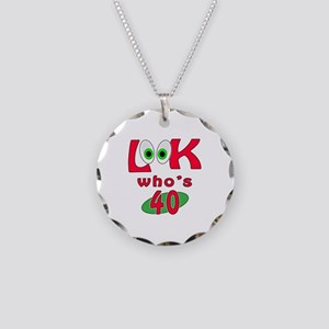 Look who's 40 ? Necklace Circle Charm