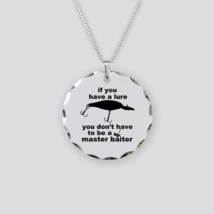 Fishing humor Necklace Circle Charm