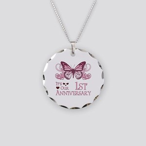 1st Wedding Aniversary (Butterfly) Necklace Circle