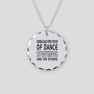 Swing Dance Designs Necklace Circle Charm