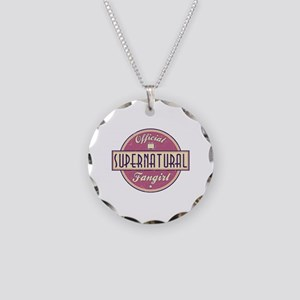 Official Supernatural Fangirl Necklace Circle Char
