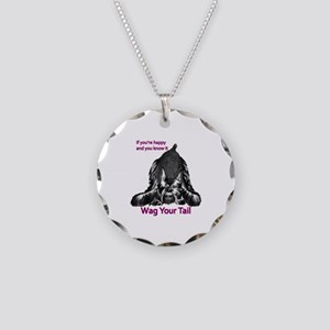 giant or schnauzer wag your Necklace Circle Charm