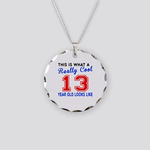 Really Cool 13 Birthday Desi Necklace Circle Charm