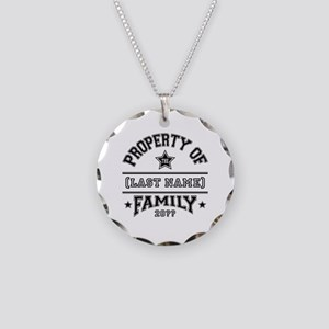 Family Property Necklace Circle Charm