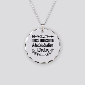World's Most Awesome Adminis Necklace Circle Charm