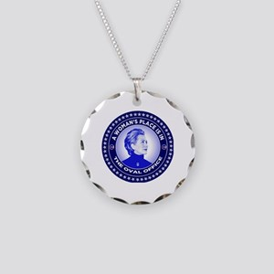 A Woman's Place is in the Ov Necklace Circle Charm