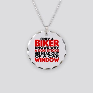 Only a Biker Knows Necklace Circle Charm