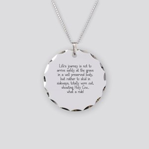 LIFE'S JOURNEY... Necklace Circle Charm