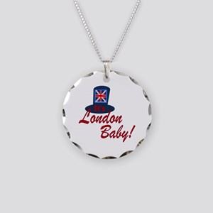 London Baby Necklace Circle Charm