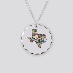 San Antonio Riverwalk, Texas Necklace Circle Charm