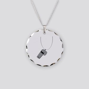 Referee Whistle Coach Necklace Circle Charm