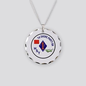USMC - 1st Shore Party Battalion Necklace Circle C