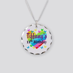 PERSONALIZED 11TH Necklace Circle Charm