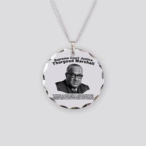 Thurgood Marshall: Equality Necklace Circle Charm
