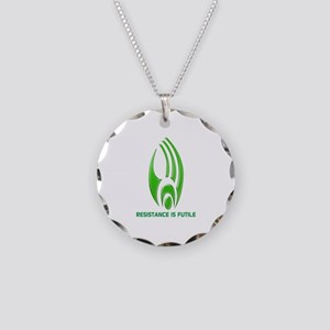 Borg Symbol Personalized Necklace Circle Charm