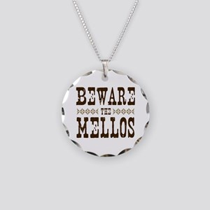 Beware the Mellos Necklace Circle Charm