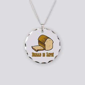 Bread is Life Necklace Circle Charm