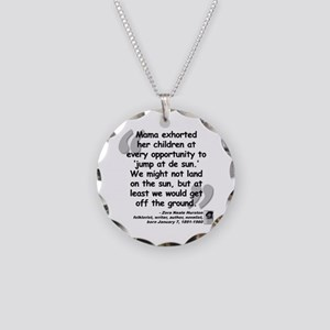 Hurston Mama Quote Necklace Circle Charm