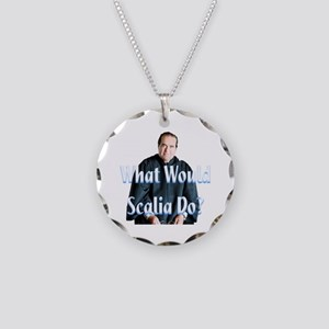 What Would Scalia Do Necklace Circle Charm