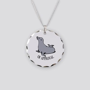 Seal of Approval Necklace Circle Charm