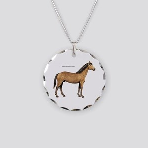 American Quarter Horse Necklace Circle Charm