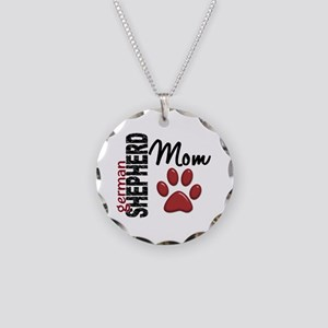 German Shepherd Mom 2 Necklace Circle Charm