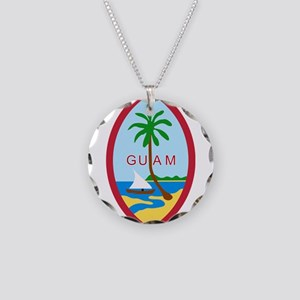 Guam Coat Of Arms Necklace Circle Charm