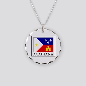 Acadiana Necklace Circle Charm