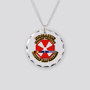 Army - 8th Army w Korean Svc Necklace Circle Charm