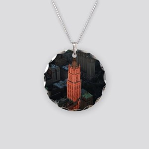 New York Skyscraper-Stunning Necklace Circle Charm